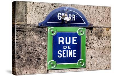 Paris Focus - Rue de Seine-Philippe Hugonnard-Stretched Canvas Print