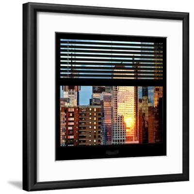 View from the Window - Buildings Sunset - Manhattan-Philippe Hugonnard-Framed Photographic Print