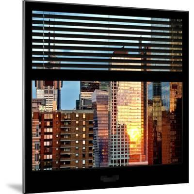 View from the Window - Buildings Sunset - Manhattan-Philippe Hugonnard-Mounted Photographic Print