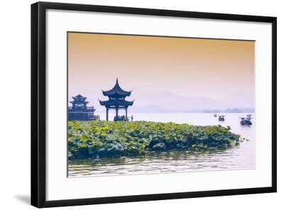 China 10MKm2 Collection - West Lake at sunset-Philippe Hugonnard-Framed Photographic Print
