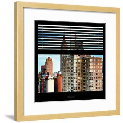 View from the Window - Manhattan Buildings-Philippe Hugonnard-Framed Photographic Print