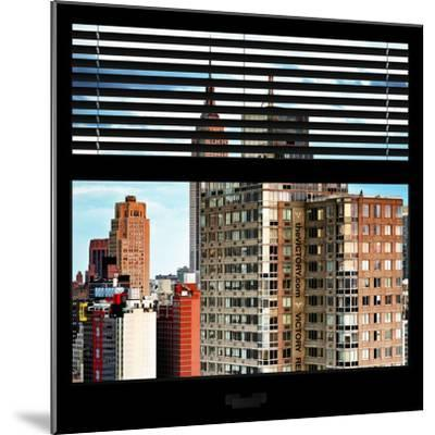 View from the Window - Manhattan Buildings-Philippe Hugonnard-Mounted Photographic Print