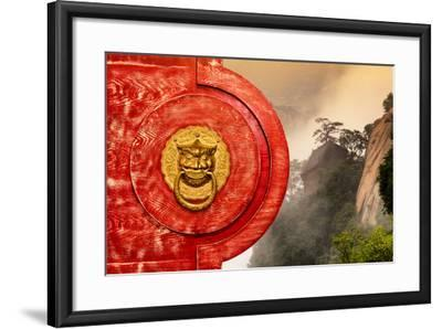 China 10MKm2 Collection - The Door God - Mount Huashan-Philippe Hugonnard-Framed Photographic Print