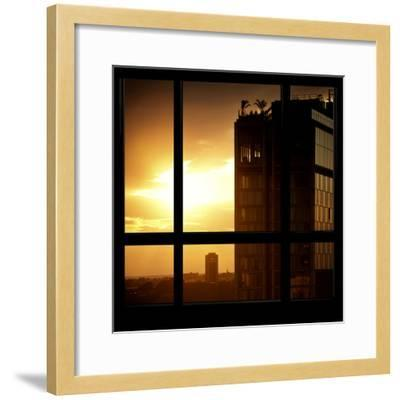 View from the Window - New York Building Sunset-Philippe Hugonnard-Framed Photographic Print