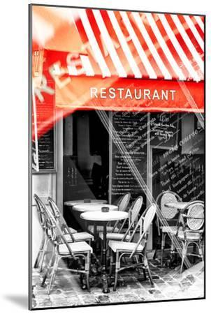 Paris Focus - French Restaurant-Philippe Hugonnard-Mounted Photographic Print
