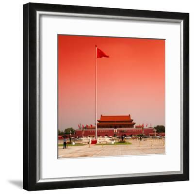 China 10MKm2 Collection - Tiananmen Square-Philippe Hugonnard-Framed Photographic Print
