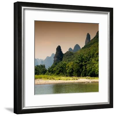 China 10MKm2 Collection - Yangshuo Li River-Philippe Hugonnard-Framed Photographic Print