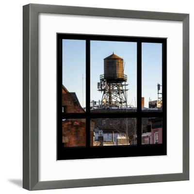 View from the Window - NYC Water Tank-Philippe Hugonnard-Framed Photographic Print