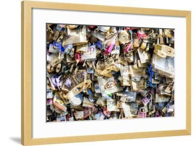 Paris Focus - Love Locks-Philippe Hugonnard-Framed Photographic Print