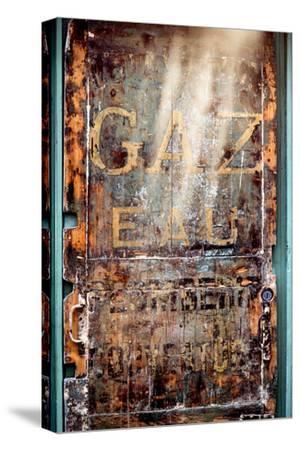 Paris Focus - Old Door 19th-Philippe Hugonnard-Stretched Canvas Print