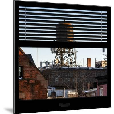 View from the Window - NYC Water Tank-Philippe Hugonnard-Mounted Photographic Print