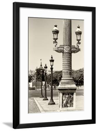 Paris Focus - Row of Lamps-Philippe Hugonnard-Framed Photographic Print
