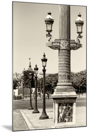 Paris Focus - Row of Lamps-Philippe Hugonnard-Mounted Photographic Print