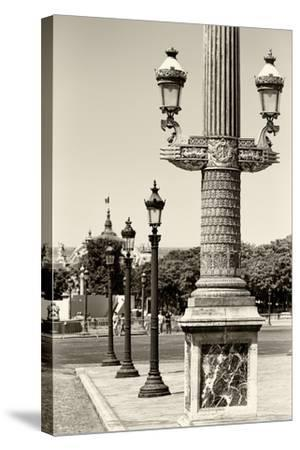 Paris Focus - Row of Lamps-Philippe Hugonnard-Stretched Canvas Print