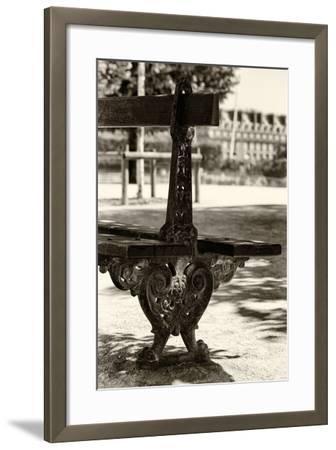 Paris Focus - Public Bench-Philippe Hugonnard-Framed Photographic Print