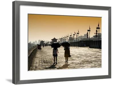 China 10MKm2 Collection - Walk on the City Walls at sunset - Xi'an City-Philippe Hugonnard-Framed Photographic Print