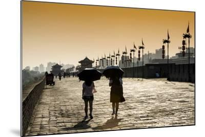 China 10MKm2 Collection - Walk on the City Walls at sunset - Xi'an City-Philippe Hugonnard-Mounted Photographic Print