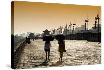 China 10MKm2 Collection - Walk on the City Walls at sunset - Xi'an City-Philippe Hugonnard-Stretched Canvas Print