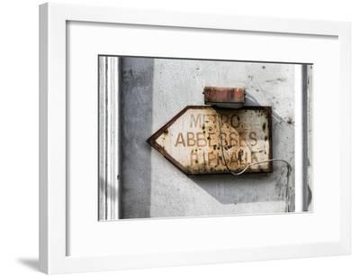 Paris Focus - Old Subway Directional Sign-Philippe Hugonnard-Framed Photographic Print