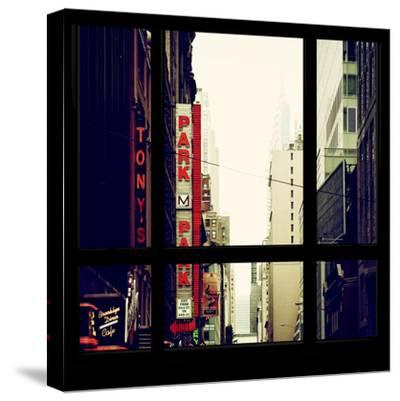 View from the Window - NYC Park-Philippe Hugonnard-Stretched Canvas Print
