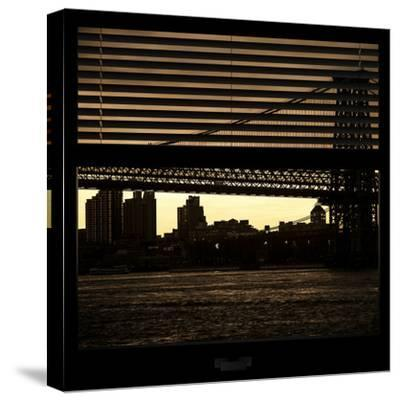 View from the Window - Williamsburg Bridge - New York-Philippe Hugonnard-Stretched Canvas Print