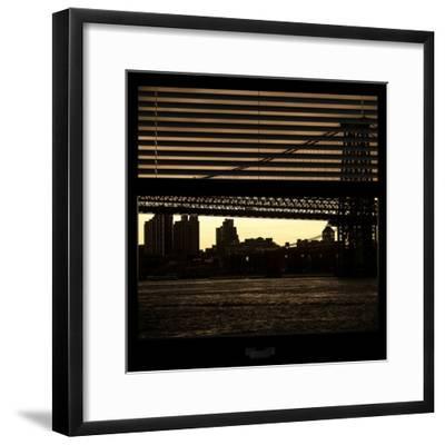View from the Window - Williamsburg Bridge - New York-Philippe Hugonnard-Framed Photographic Print