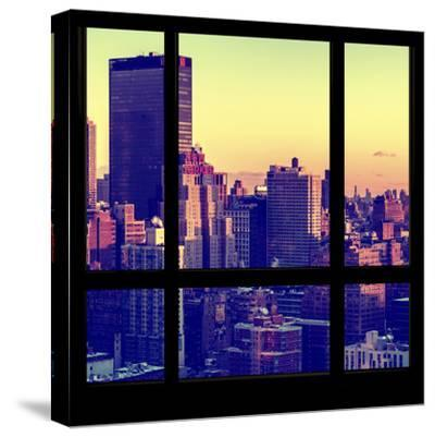 View from the Window - Manhattan Sunset-Philippe Hugonnard-Stretched Canvas Print
