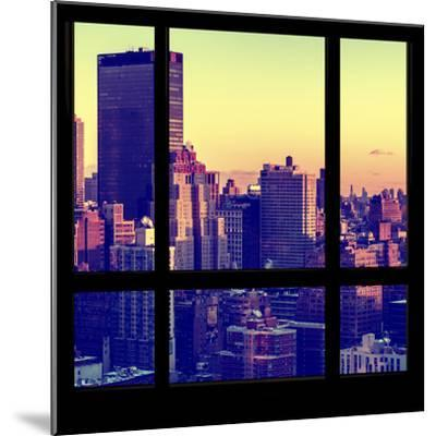 View from the Window - Manhattan Sunset-Philippe Hugonnard-Mounted Photographic Print