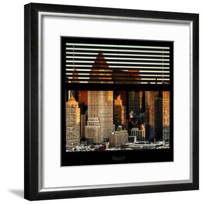 View from the Window - Hell's Kitchen at Sunset - Manhattan-Philippe Hugonnard-Framed Photographic Print