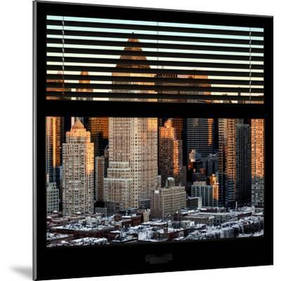 View from the Window - Hell's Kitchen at Sunset - Manhattan-Philippe Hugonnard-Mounted Photographic Print