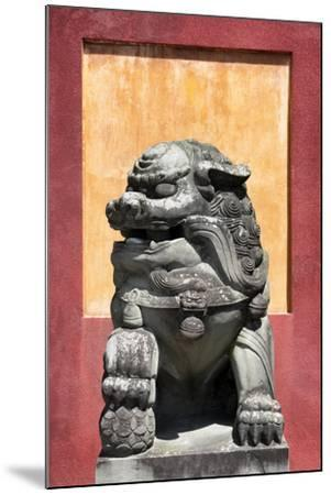 China 10MKm2 Collection - Asian Sculpture of a Stone Lion-Philippe Hugonnard-Mounted Photographic Print