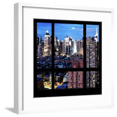 View from the Window - Manhattan Night-Philippe Hugonnard-Framed Photographic Print