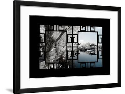 China 10MKm2 Collection - Asian Window - Another Look Series - Blue Lagoon-Philippe Hugonnard-Framed Photographic Print