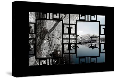 China 10MKm2 Collection - Asian Window - Another Look Series - Blue Lagoon-Philippe Hugonnard-Stretched Canvas Print
