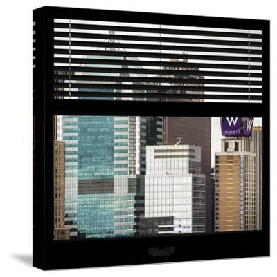 View from the Window - Manhattan Buildings-Philippe Hugonnard-Stretched Canvas Print