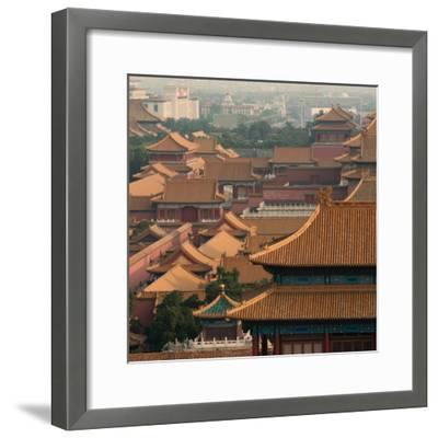 China 10MKm2 Collection - View of the roofs of Forbidden City-Philippe Hugonnard-Framed Photographic Print