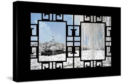 China 10MKm2 Collection - Asian Window - Another Look Series - Beihai Park-Philippe Hugonnard-Stretched Canvas Print