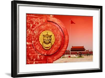 China 10MKm2 Collection - The Door God - Tiananmen Square-Philippe Hugonnard-Framed Photographic Print