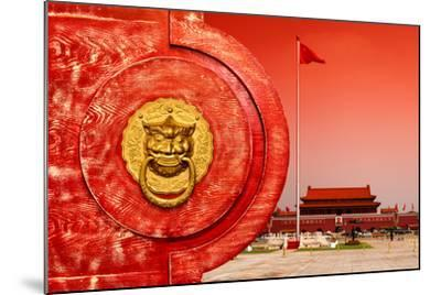 China 10MKm2 Collection - The Door God - Tiananmen Square-Philippe Hugonnard-Mounted Photographic Print