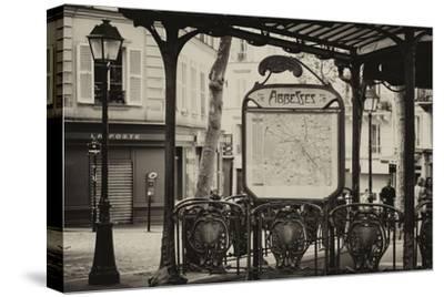 Paris Focus - Metro Abbesses-Philippe Hugonnard-Stretched Canvas Print