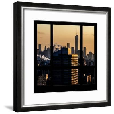 View from the Window - One World Trade Center at Sunset-Philippe Hugonnard-Framed Photographic Print