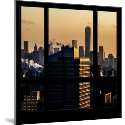 View from the Window - One World Trade Center at Sunset-Philippe Hugonnard-Mounted Photographic Print