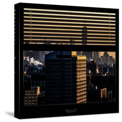 View from the Window - One World Trade Center at Sunset-Philippe Hugonnard-Stretched Canvas Print