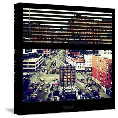 View from the Window - Chelsea Buildings - Manhattan-Philippe Hugonnard-Stretched Canvas Print