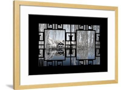 China 10MKm2 Collection - Asian Window - Another Look Series - White Reflections-Philippe Hugonnard-Framed Photographic Print