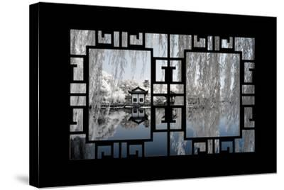 China 10MKm2 Collection - Asian Window - Another Look Series - White Reflections-Philippe Hugonnard-Stretched Canvas Print