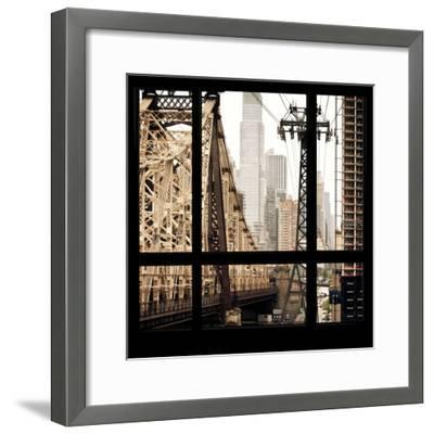View from the Window - Queensboro Bridge-Philippe Hugonnard-Framed Photographic Print