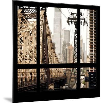 View from the Window - Queensboro Bridge-Philippe Hugonnard-Mounted Photographic Print