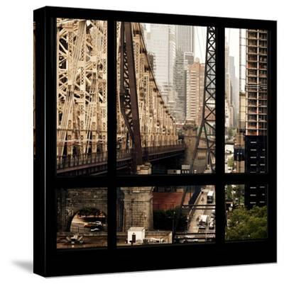 View from the Window - Queensboro Bridge-Philippe Hugonnard-Stretched Canvas Print