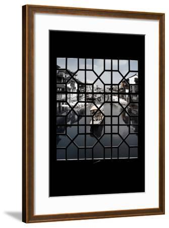 China 10MKm2 Collection - Asian Window - Another Look Series - White Boat-Philippe Hugonnard-Framed Photographic Print